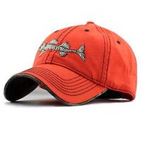 Fish Skeleton Hat Fishing Baseball Cap Trucker Hats For Men Casual Fish  Bone Hat 40864981535