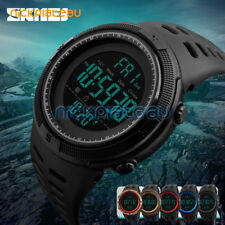 SKMEI Waterproof Mens Military Watch LED Digital Stopwatch Date Sport Wristwatch