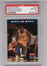 1992 Skybox #104 - MAGIC JOHNSON - USA Basketball - PSA 10 Gem Mint - LAKERS