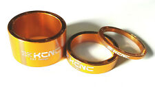 KCNC Hollow Design Headset Spacers Set of 3 -  3/8/20mm Gold A1