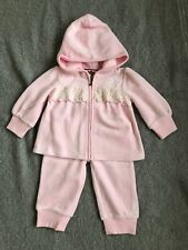 a7b63825fd27 New Juicy Couture Infant Baby Girl Velour Tracksuit Jacket And Pants Size  6-9 M