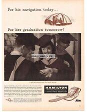 1944 HAMILTON Navigational Time & Stop Watch WW2 Graduation Gift Vtg Print Ad