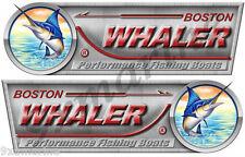 """Boston Whaler Designer Sticker Set. Left/Right 10"""" X 3.5"""" each - laminated"""