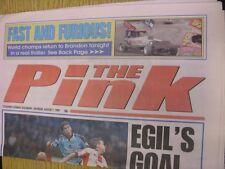 07/08/1999 COVENTRY evening Telegraph il rosa: principali titolo recita: egils Obiettivo