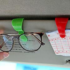 2pcs Sun Visor Sunglasses Eye Glasses Card Pen Holder Clip Car Vehicle Accessory