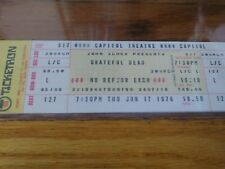 Grateful Dead, Rare, 1976, Unused Ticket, Capitol Theatre, 06/17/1976, Vintage