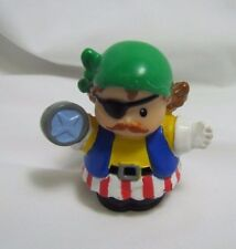 Fisher Price Little People PIRATE BOAT CAPTAIN Boy PIRATES BOAT SHIP EYE PATCH