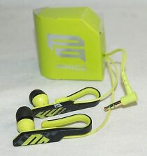 Sony MDR-PQ4/PQ LIME GREEN Qlasp Lobe Clip Ear Bud Headphones Pair PIIQ Series