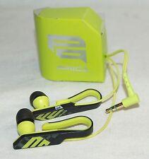 Sony MDR-PQ4/PQ LIME GREEN Qlasp Lobe Clip Ear Bud Headphones Pair PIIQ Series