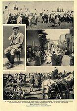 Aufstand in Marokko * Mulay Abdul Asis der Sultan von Marokko  Bilddokument 1903