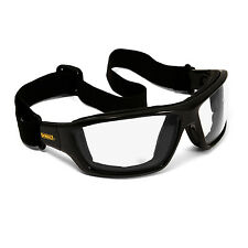 Dewalt Converter Safety Glasses Goggles Clear Anti Fog Lenses Foam Padded