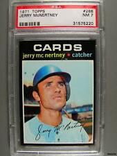 1971 Topps #286 JERRY McNERTNEY PSA NM 7 Cards