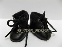 Black shoes D5 fit blythe barbie momoko Azone doll Pullip DAL 1/6 Fashion Doll