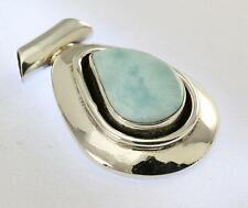 LARIMAR PENDANT 925 STERLING SILVER ARTISAN JEWELRY COLLECTION R718A