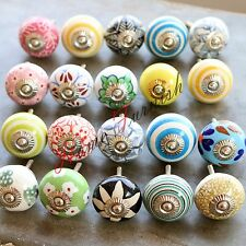 Cabinet Hardware Multicolor Indian Knobs Ceramic Drawer Knobs Lot Of 40