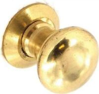 Securit S2614 Polished Brass Victorian Door Cupboard Cabinet Knobs Pair 35mm