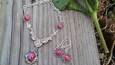 Medieval Fire Opal Necklace with Swarovski links and Dragon's Breath huge SALE