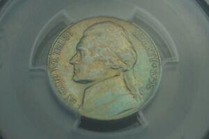 Rainbow Toned -- 1958 5c PCGS MS63 Jefferson Nickel #RT18