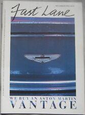 Fast Lane 11/1985 featuring Aston Martin Vantage, TVR, TWR, Renault, Lotus