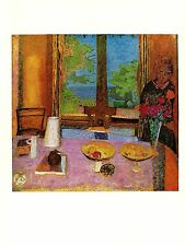 "1969 Vintage BONNARD ""DINING ROOM ON THE GARDEN"" COLOR offset Lithograph"