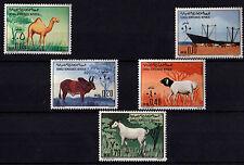 ITALY Somalia 1972 5 New Stamps Evert Tellier Animali domestici serie completa