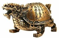 Feng Shui Chinese Dragon Turtle Tortoise Statue Home Office Decor Blessing Gift