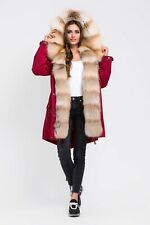 Parka with natural fur Gold Island Fox / size S