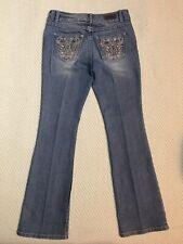 Womens Harley Davidson Bootcut Embellished Lightly Distressed Jeans Sz. 2