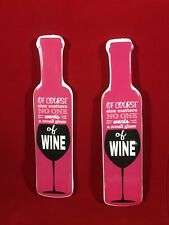 Funny Fridge Pink Wine Glass Magnets Wine Gifts Kitchen Accessory Home Bar 2pc