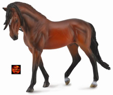 BRIGHT BAY ANDALUSIAN STALLION LARGE 1:12 SCALE HORSE TOY MODEL - COLLECTA 88630