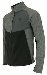 Spyder NEW Mens Heath Color Block Full Zip Fashion Sweater Medium $129