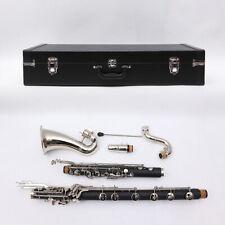 Yinfente Bass Clarinet Low C Bb key Ebonite Wood Sweet Sound Free Case #BC2