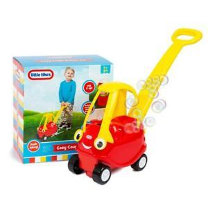 Little Tikes Mini Push Along Cozy Coupe Car Bubble Blower Maker Childrens 3+ Toy