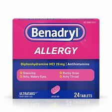 Benadryl Allergy Ultratabs Antihistamine Allergy Relief, 24ct - 07/2021