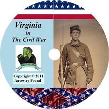 Virginia Civil War Books History & Genealogy 42 Books on DVD