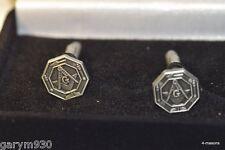 Masonic Die stamped antique finish cast metal cufflinks