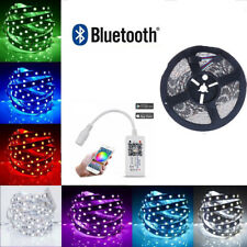RGB LED Strip Lights IP65 Waterproof 5050 5M tape lamp 12V Bluetooth Controller