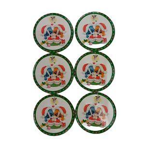 Merry Kissletoe Puppies Coaster set of 6