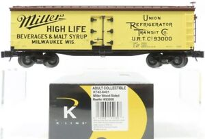 ✅K-LINE BY LIONEL MILWAUKEE MILLER HIGH LIFE BEER 40' WOOD SIDE REEFER CAR SCALE