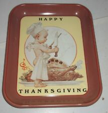 Vintage 1976 Saturday Evening Post Limited First Edition Happy Thanksgiving Tray