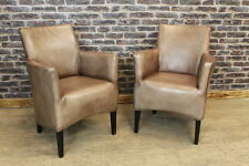 Leather Antique Style Armchairs