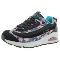 Skechers Womens Uno-Midnight Blooms Black Sneakers 8.5 Medium (B,M) BHFO 0828