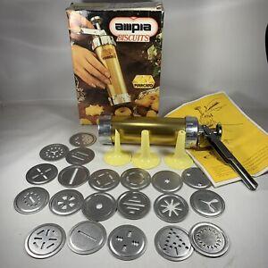 Marcato Ampia Cookie Press Biscuit Maker Vintage Metal Made In Italy Unused