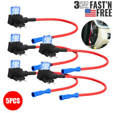 5 PCS 12V Car Add-A-Circuit Fuse Tap Adapter Mini ATM APM Blade Fuse Holder