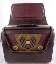 VTG 1950's ZENITH H503 Portable AC/DC Suitcase Lunchbox Style TUBE RADIO