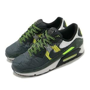 Nike Air Max 90 3M Grey Yellow Volt Black Reflect Silver Men Shoes CZ2975-002