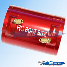 RC Boat Traxxas Spartan 36mm upgrade motor cooling jacket red