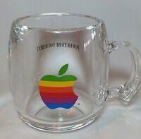 Vtg Apple Computer Logo Mug Acrylic Macintosh Rainbow 1980s Power Be Your Best