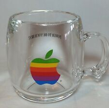 Vtg Apple Computer Logo Mug Acrylic Macintosh Rainbow 1980s Power Be Your Best