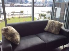 CHARCOAL FAUX FUR CUSHIONS COVERS ( A SET OF TWO)-AMAZING QUALITY